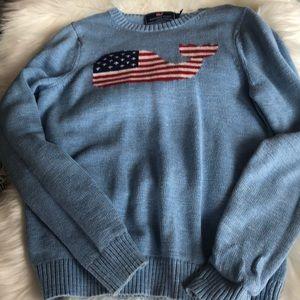 Vineyard Vines Sweater Boys American Flag whale